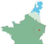 Lage Vogezen Frankrijk